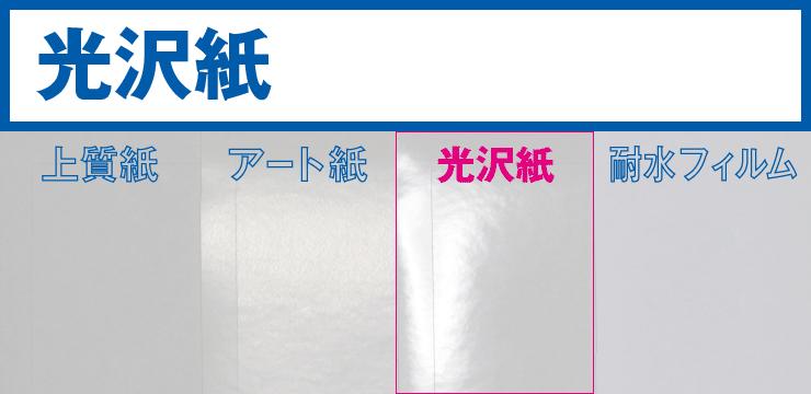 業務用ラベルシール:光沢紙