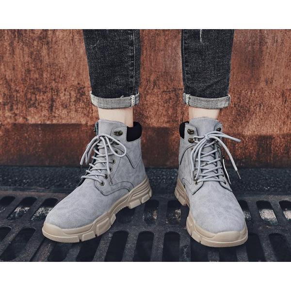 ワークブーツ メンズ ショートブーツ ハイカット レースアップシューズ メンズ靴 エンジニアーツ 大きいサイズ 歩きやすい 2019秋冬新作|labu|17