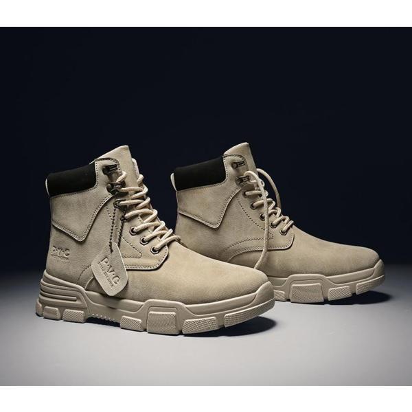 ワークブーツ メンズ ショートブーツ ハイカット レースアップシューズ メンズ靴 エンジニアーツ 大きいサイズ 歩きやすい 2019秋冬新作|labu|19