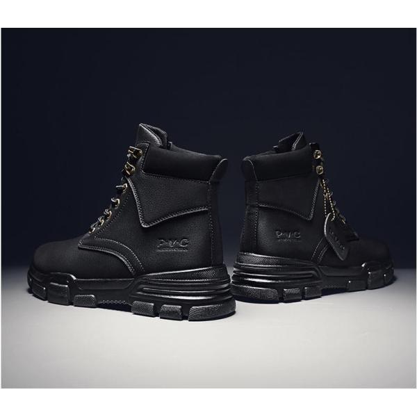 ワークブーツ メンズ ショートブーツ ハイカット レースアップシューズ メンズ靴 エンジニアーツ 大きいサイズ 歩きやすい 2019秋冬新作|labu|18