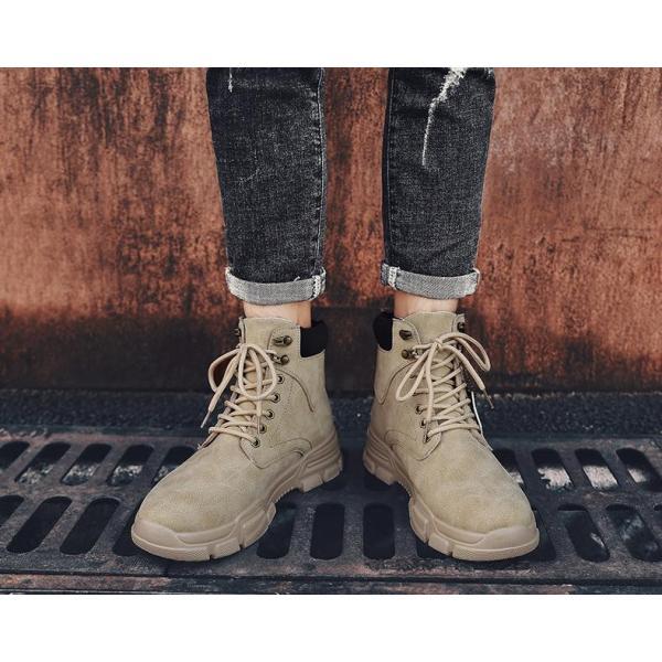 ワークブーツ メンズ ショートブーツ ハイカット レースアップシューズ メンズ靴 エンジニアーツ 大きいサイズ 歩きやすい 2019秋冬新作|labu|16