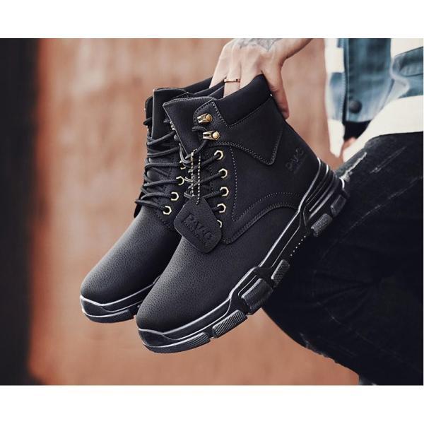 ワークブーツ メンズ ショートブーツ ハイカット レースアップシューズ メンズ靴 エンジニアーツ 大きいサイズ 歩きやすい 2019秋冬新作|labu|15