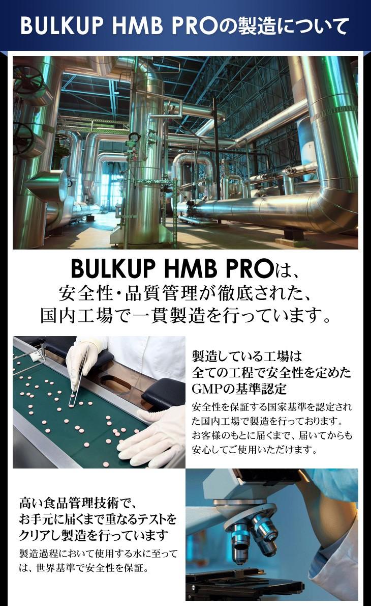 BULKUP HMB PRO の製造について