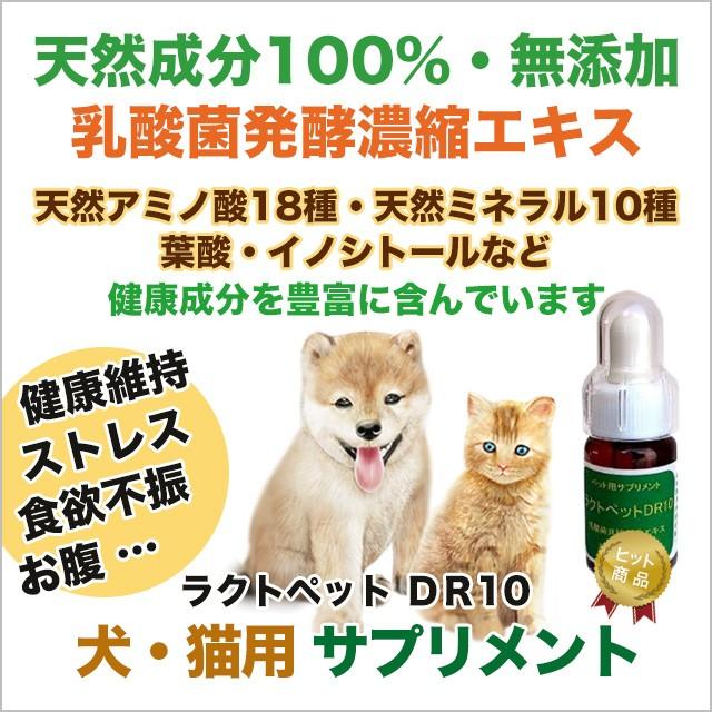 ペット サプリメント ラクトペット DR10【犬・猫用 天然成分100% 健康のためのサプリ/栄養補助】