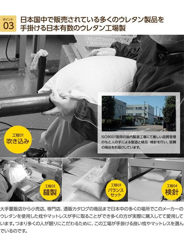 【TD】mofua 日本製 低反発枕 ピローカバー付 ボリュームタイプ(選べる15色カバー/低高反発素材使用) 43×63cm【ナイスデイ】