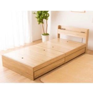 ベッド シングル 収納 収納付き 大容量 棚付 引出し付 引き出し付 コンセント付 寝具 収納付き  棚付き引出付きベッド|ladybird6353|20