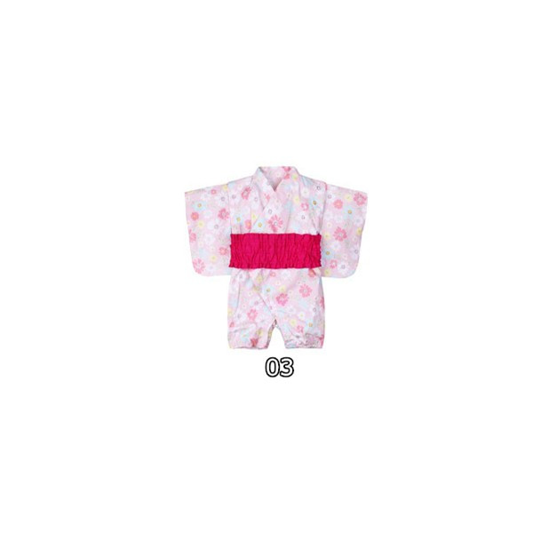 浴衣 キッズ 2点セット 子供服 カジュアル ゆかた 女の子 花柄 リボン 和 レトロ キッズ浴衣 夏 ベビー服 ロンパース 80 女 70/90cm|ladybirds-store|18