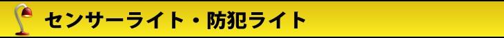 センサーライト・防犯ライト