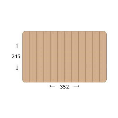 ウッドカーペット 団地間6畳 245×352cm