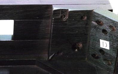 天然木製ダイニングテーブルのウラ面