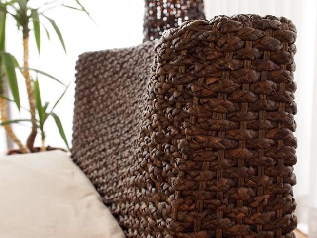 エコでアジアンナチュラルな素材、ウォーターヒヤシンス(水草)を編み込んだエスニックなデザイン