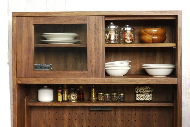 アジアン家具@CBi(アクビィ) チーク無垢木製 の食器棚 ACK719KA