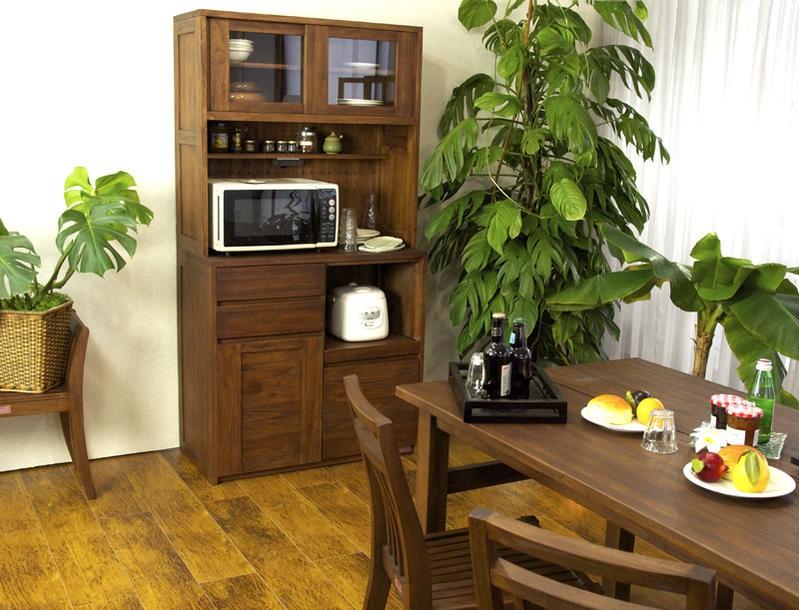 こだわりのおしゃれなオススメのアジアン家具acbiアクビィシリーズの食器棚です。