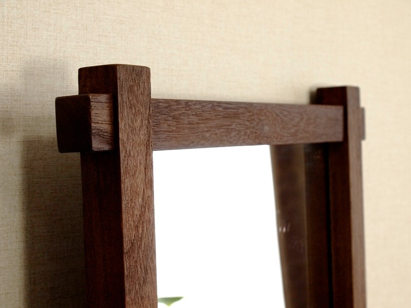 年月を経る程味わい深くアンティークでヴィンテージな趣に変化するチーク無垢木製のインテリア姿見