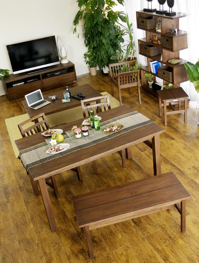 毎日の食卓をバリ島の癒やしのヴィラ空間にするアジアンスタイルな食卓にぴったりな椅子