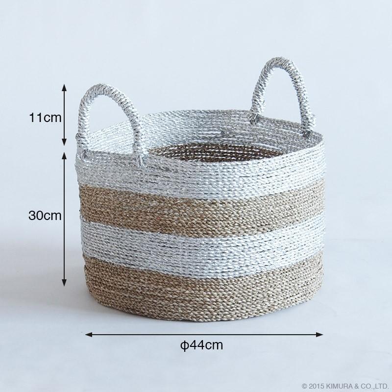 アジアンスタイルインテリアacbiスパイス シーグラスランドリーバスケット 丸形 Mサイズサイズ詳細