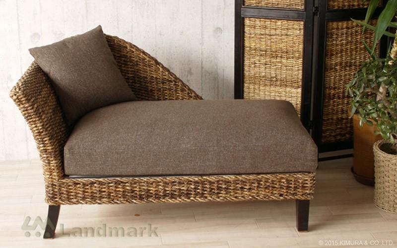 バリのリゾート風ソファにピッタリの自然素材カウチソファ