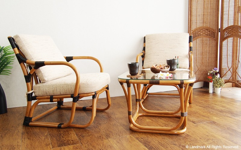 ラタンチェア いす オンリーワン ハンドメイド アジアン家具 インテリア 和風