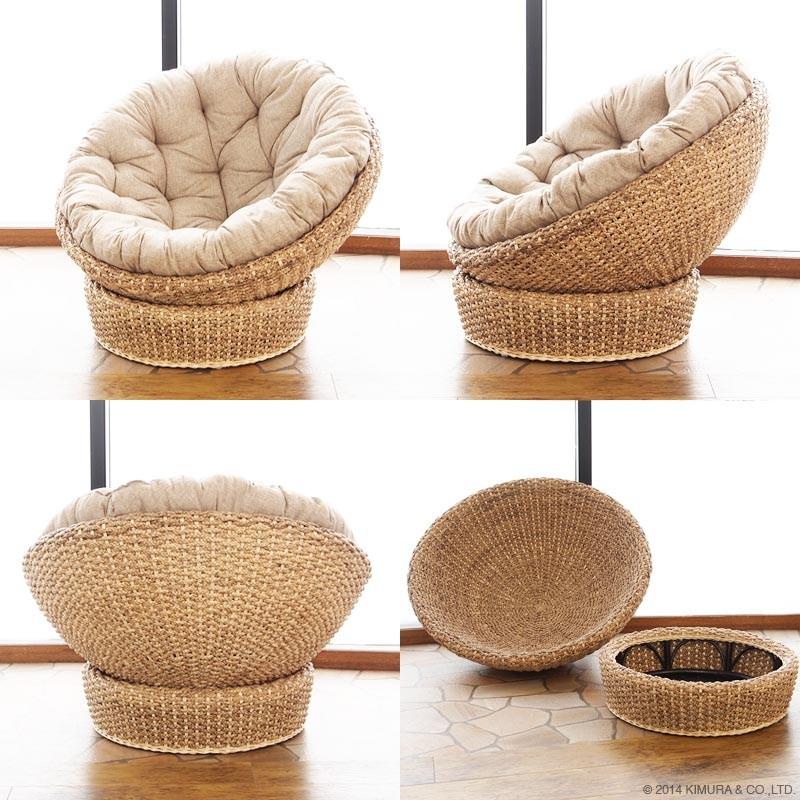 お部屋をアジアンリゾートなエスニックでナチュラルな癒しの空間に。ウォーターヒヤシンス(水草)の椅子です。