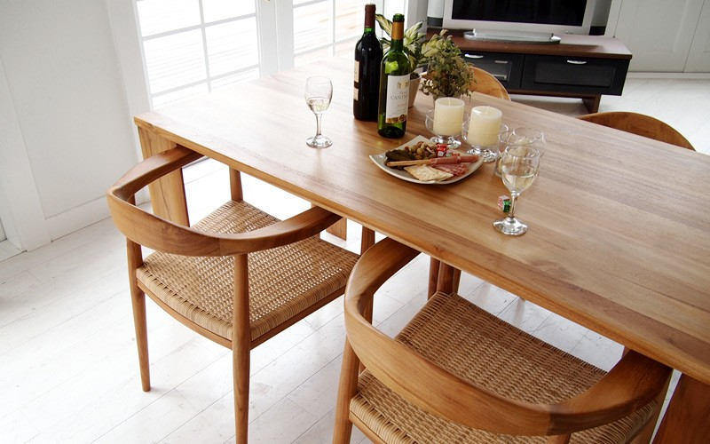 籐 ラタン 木製のおしゃれなカウチソファ