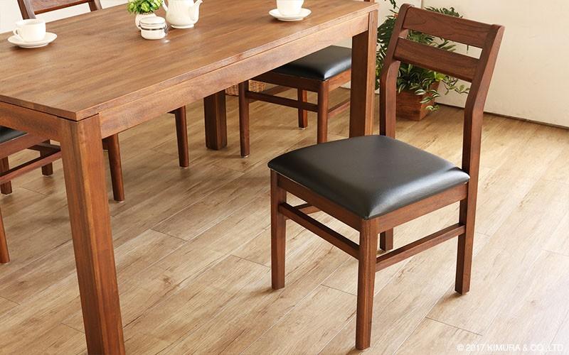 アジアン家具 チーク無垢木製 ダイニングチェア 椅子(C340KA) sunflower rattan キムララタン