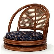 籐家具 籐回転座椅子 ロータイプ