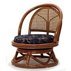 籐家具 籐回転座椅子 ミドルタイプ