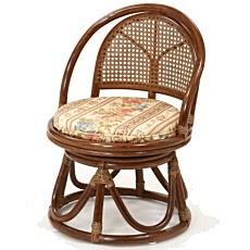 籐家具 籐回転座椅子 ハイタイプ