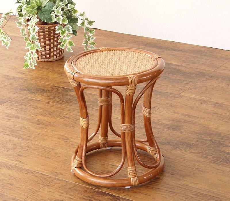 籐家具 籐の椅子 スツール いす ...