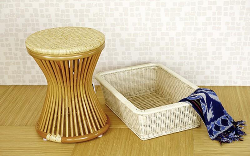 sunflower rattan ラタン製 スツール 籐 椅子 腰掛け (C418H) サンフラワーラタン sunflower rattan キムララタン