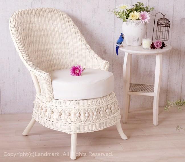 しなやかで丈夫な籐(ラタン)製の椅子、1人掛けソファ