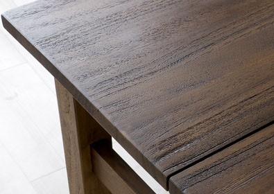 チーク無垢木製のダイニングテーブル