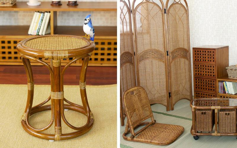 和風アジアン家具はニーブラウンカラーがかわいい人気のラタンのインテリアシリーズ