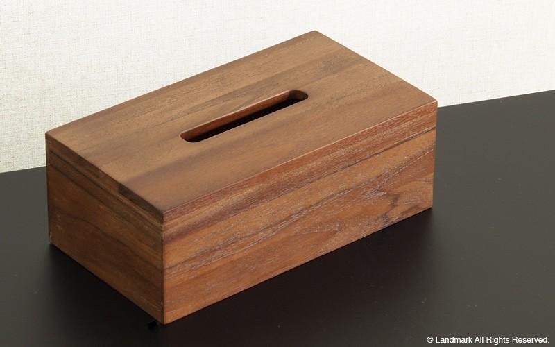 チーク無垢木製ティッシュケース