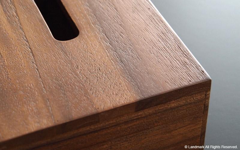 チーク無垢材でつくられた豪華なティッシュボックス