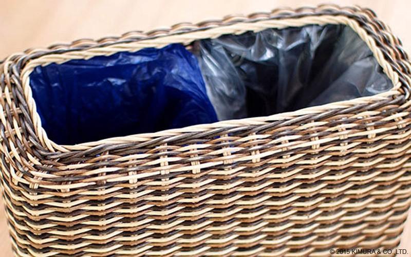 3色グラデーションカラーの籐を編みこんで作ったエスニックでアジアンなインテリア