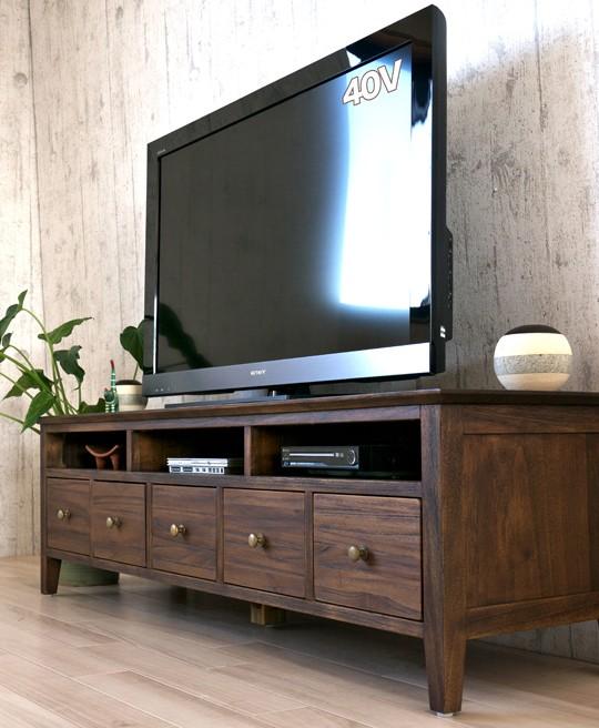 インテリアショップ ランドマーク 大人気 ランキング1位入賞 チーク無垢木製のおすすめのテレビ台
