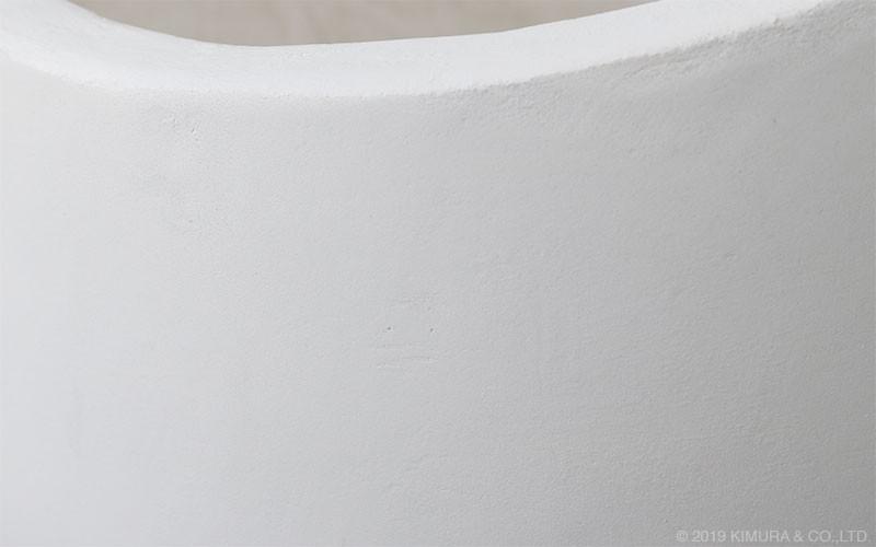 北欧家具 ZAGO プランター 植木鉢 Lサイズ コンクリート製 ホワイトタイプ(L4V01LW)