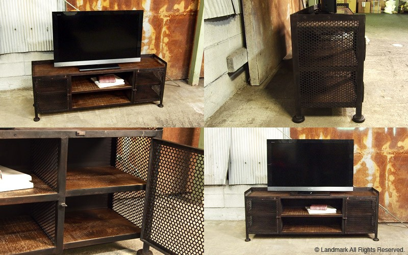 industrial furniture rustic tv board 詳細