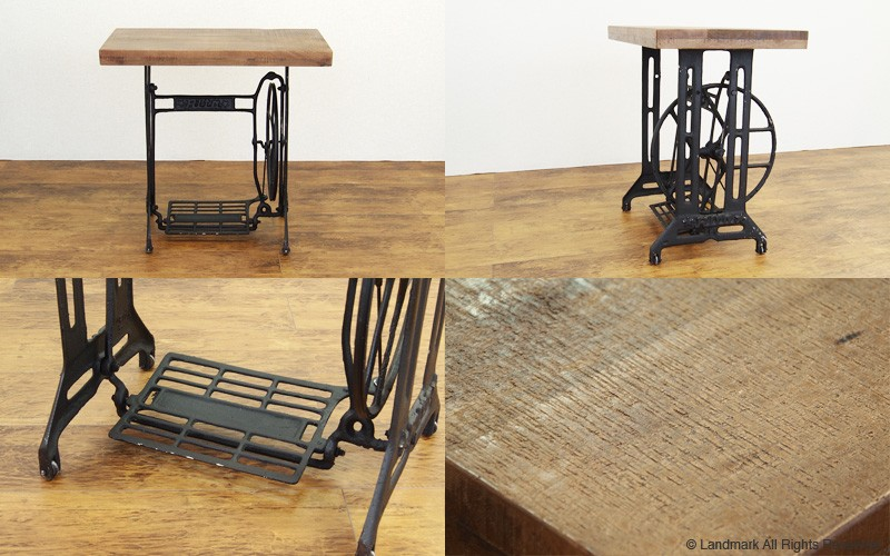 インダストリアル アジアン サイドテーブル RET100BK