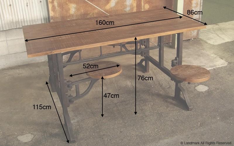 industrial furniture ダイニングテーブルセット 詳細