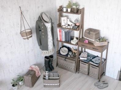 オープンラックや収納シェルフ、お部屋をおしゃれな雑貨屋さんの様なお部屋に。