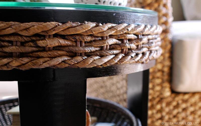 バリのリゾート風にピッタリの自然素材インテリア