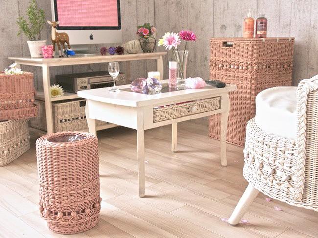 フィオーレシリーズの家具はフェミニンでリラックスできる大人ガーリーテイストなお部屋をつくります