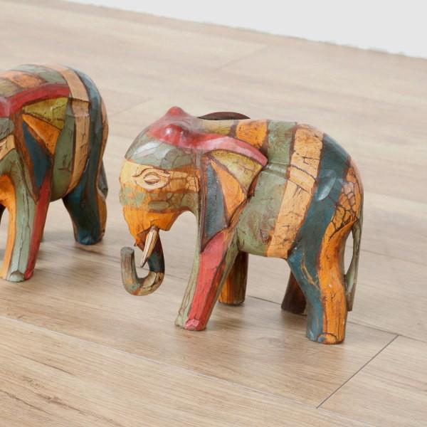 アジアン雑貨 プルメリア 象のオブジェ ゾウ