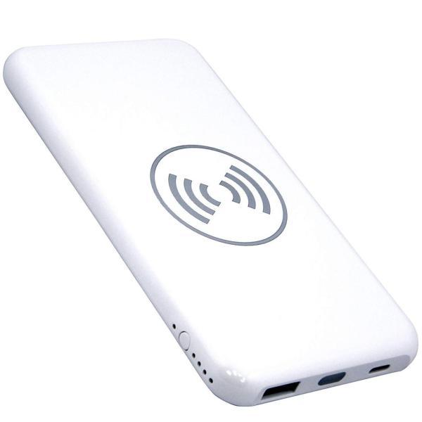モバイルバッテリー 大容量 薄型 急速充電 ワイヤレス Qi充電 iPhone android PSE 保証 lanui 10