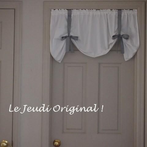 カフェカーテン リボン 白 エレガント ロールアップ おしゃれ コットン 透けない 目隠し 短い カーテン