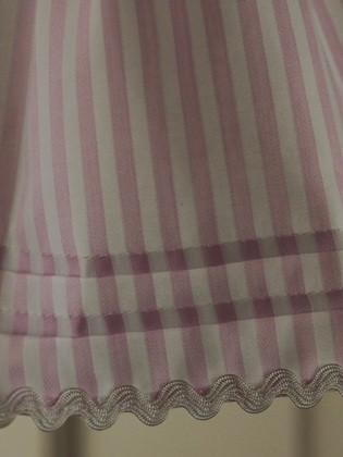 カフェカーテン バランス ピンク ストライプ