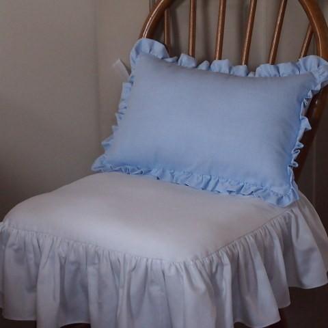 シャビーシック フレンチシック クッション 椅子カバー 白