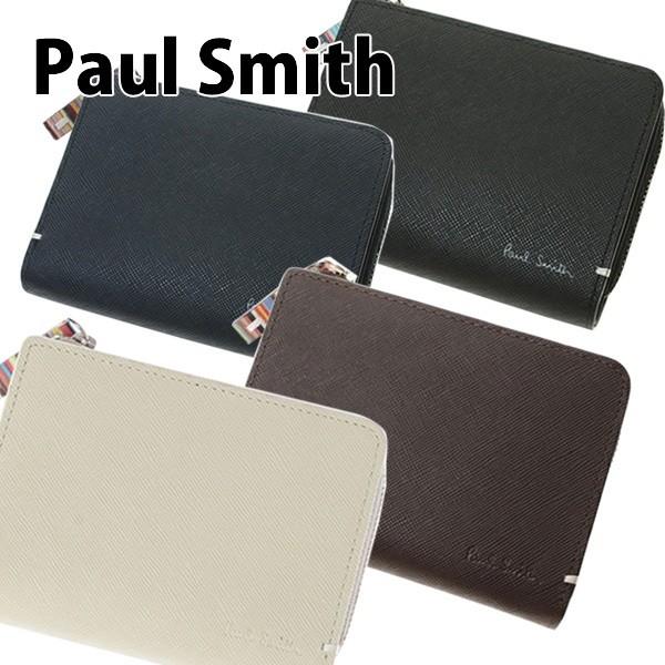 ポールスミス Paul Smith 財布 二つ折り財布 メンズ ジップストローグレイン PSK865